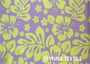 Quality Warp Knitted Recycled Swimwear Fabric Poly Elastane Screen Print Flower Design for sale