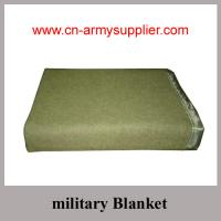 China Wholesale Cheap China Army Use Wool Polyester Acrylic Police Blanket on sale