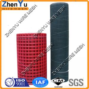 China welded wire mesh PVC coating with cheap price per roll (Red/Black/Green/White color) on sale