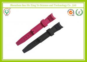 China Fashionable Red Silicone Watch Band with Customized Logo / rubber Watch Strap on sale