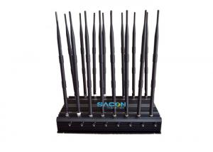 China 70m Long Range Cell Phone GPS Jammer 16 Antennas 5 Cooling Fans Inside on sale