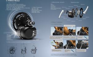 China Apriete conversión central eléctrica del motor de la bicicleta TSDZ2 de la rueda catalina del sensor 36V 350W 42T la mediados de on sale