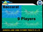 China Custom Design Baccarat Layout For 7/8/9/11/15/16 Players wholesale