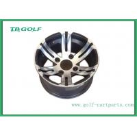 China 12 Inch Aluminum Matte Black Wheels Silver Color For Golf Cart 12x7 Machined on sale