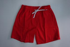 China Red Elasticity Waistband Men Board Shorts / Mens Swim Shorts With Pockets on sale
