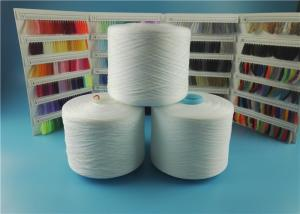 China Plastic Cone Spun Polyester Yarn White 100% Pure Virgin Sewing Use on sale