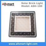4x4 inch Solar Paver Lights Patio Solar Brick Lights Garden Landscaping Solar Underground Inground Lights
