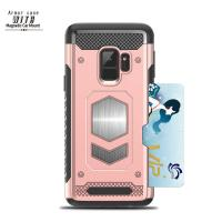Durable Smartphone Protective Case With Ring Holder For Samsung / Huawei Mate10 / Electroplated Iphone X Case