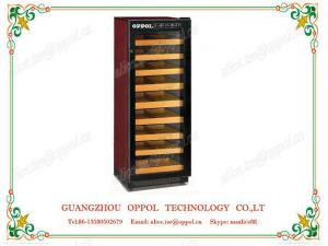 China OP-412 Customized Size Stainless Steel Door Frame Red Wine Display Showcase Chiller on sale