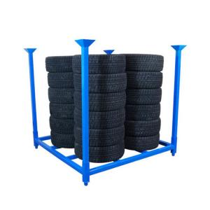 China Galvanized Treatment Metal Stacking Pallets Blue Color / Industrial Stacking Racks on sale