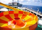 Multi Color Huge Water Slide Water Park Attraction Equipment 38 X 30m Floor Space