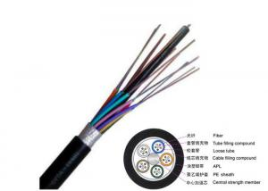 China 144 Core Duct Fiber Optic Armored Cable PE Jacket GYTA G652D Aluminium Tape supplier