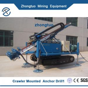China Crawler Mounted Anchor Drilling Rig|For rock mine drilling anchor cable hole construction crawler mounted anchor drillin on sale