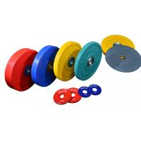 2 Inch Power GYM Equipment / Colorful Rubber Olympics GYM Weights Plates