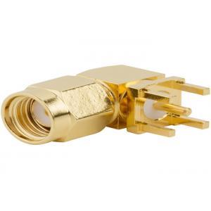 China Le RP renversent le récipient à angle droit de carte PCB de connecteur de SMA rf 1,32 millimètres de câble coaxial de liaison on sale