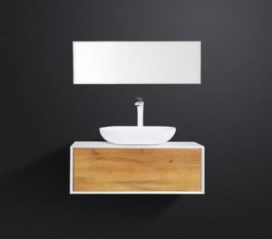 China Ceramic Basin Bathroom Vanity And Medicine Cabinet , 90 Inch Bathroom Vanity Mirror Cabinet on sale