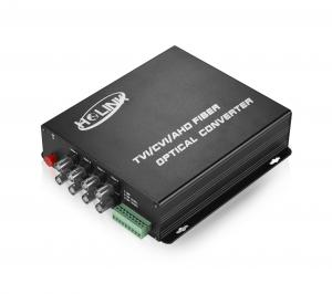 China 8 Channels HD-TVI / CVI / AHD Fiber Video Converter 80KM FC SC ST Connector 1080P on sale