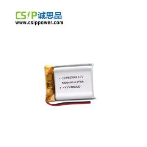 China Wireless Speakers 3.7 Volt Lithium Polymer Battery 1200mah Fast Charging on sale