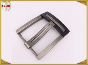 China Nickel And Lead Free Silver Plated Double Pin Belt Buckle For Man on sale