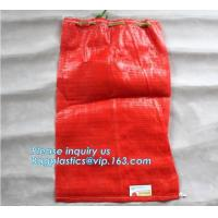 China PP woven recycle potato mesh bag,mesh potato bags, onion sack, raschel mesh bag,raschel mesh bag for packing firewood on sale