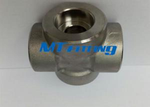 China Socket Welded F304L / 316L Forged High Pressure Pipe Fitting Stainless Steel Cross on sale