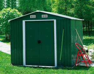 China 10 X 8 X 7ft Metal garden shed with 2 sliding doors,HHSD-C on sale