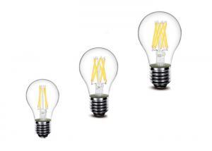 China Deep Dimming LED Filament Bulb Dimmable A19 Base 360 ° Lighting Angle Long Life on sale