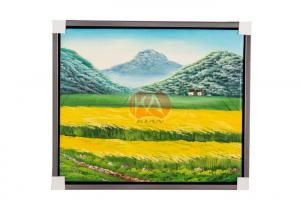 China Art Decor Modern Canvas Framed Red Bloom Flowers Oil Painting images on sale