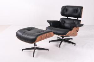 China Eames Replica Leather Indoor Chaise Lounge Chair Comfortable Feeling on sale