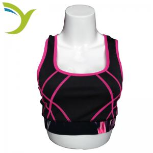 China Custom dri fit sports sexy girls wearing sublimated yoga sport bra for gym fitness on sale