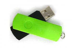 China Memoria USB delgada impermeable del eslabón giratorio/unidades USB impresas on sale