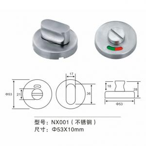 China SS 304 Door Fitting Hardware Stainless Steel Indicator Door Knob Lock Handle on sale