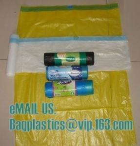 China MDPE DRAWTAPE SACKS, nappy bags, nappy sack, diaper bag, alufix, rubbish bag, garbage on sale