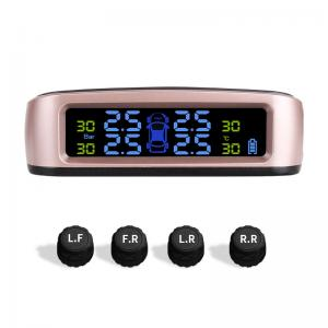 China OEM Electronic Tyre Pressure Monitoring System Solar Charged Wireless Sensors TPMS on sale