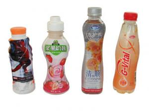 China Customized Design PVC Heat Shrink Sleeve Labels For Juice Water Bottle Packaging on sale
