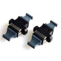 MPO MTP Flange Fiber Optic Adapter Black Bare Fiber Adapter APC Polished