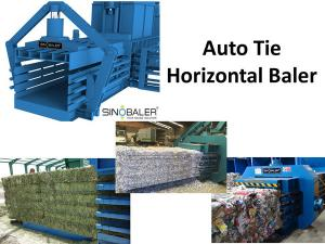 China Auto tie horizontal baler from SINOBALER supplier