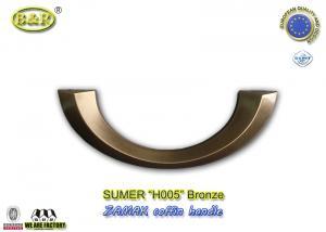 China Antique bronze H005 Metal Coffin Handles Italy  Zinc Alloy Half moon shape old bronze color on sale