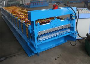 China Corrugated Roof Panel Roll Forming Machine , Colour Coated Roofing Sheets Machinery on sale
