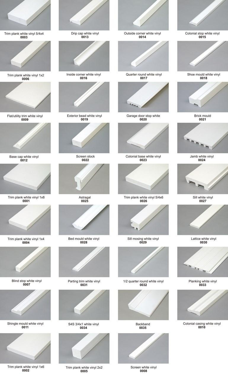 Flat / Utility PVC Trim Board / White Vinyl Cellular PVC Trim For