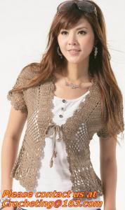 China Women Fashion Lace Cardigan Plus Size Hollow out Crochet Knitted Sweater Casual Blouses Autumn Tricotado on sale