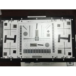 China 1X Enhanced ISO 12233 8 Millon Pixel Camera Resolution Test Chart  4000 lines with Photographic Pape 20 cm x 35.6 cm on sale