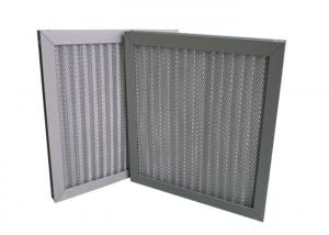 China Wave Washable Wire Mesh Pleated Air Conditioning Air Filters With Aluminum Frame on sale