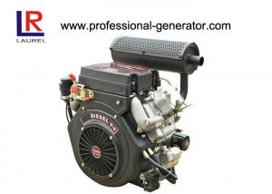 China diesel 20HP de refrigeração ar - o gêmeo posto do motor V para o bote, 4 afaga o começo elétrico on sale