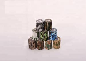 China Custom Camo Design Nonwoven Finger Elastic Self Sticky Military Cohesive Bandages For Thumb Finger Head Armor Wraps Frac on sale