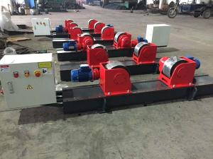 China Bolt Adjustment Heavy Duty Roller Stand , Hand Control Box Conventional Welding Rotator on sale