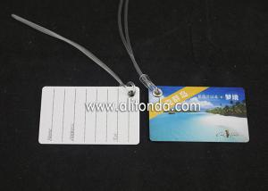 China Hard PVC card sheet luggage tag custom printed sample cheap paper luggage tag custom for travel airline company on sale