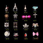 Diamante artificial ML770-785 del brillo de la joyería de la aleación de la decoración del arte del clavo de la torre del hierro