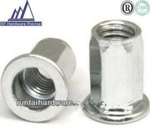 China Flat Head Tubular Rivet , Inside & Outside Hexagon Threaded Insert Nuts on sale