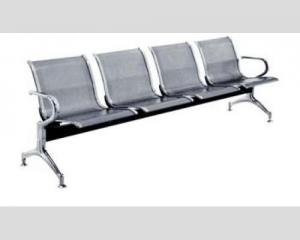 China Anti Rust Home Office Furniture  Steel Mesh Bench Chair Silver Color For Bank , Metal Chair , Aluminum Bench on sale